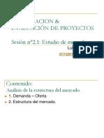 Sesion n°2.1 - Estructura del mercado