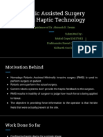Robotic Assisted Surgery Using Haptic Technology 2