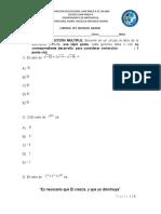 Control Formativo Octavos Básicos