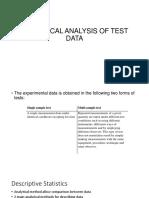 Statistical Analysis of Test Data (1)