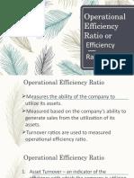 Episode 14 -Operational Efficiency Ratio