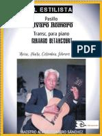 EL ESTILISTA. Pasillo. Alvaro Romero Sánchez. Transc. piano Gerardo Betancourt.