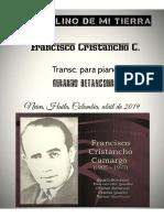 TORBELLINO DE MI TIERRA. Francisco Cristancho C. Ttansc, piano Gerardo Betancourt