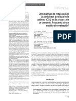 Alternativas de Reduccion Las Emisiones Del Dioxido de Carbono ( Co2) en La Produccion Del Cemento