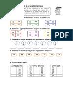 Comparar y Ordenar Numeros Del 0 Al 100