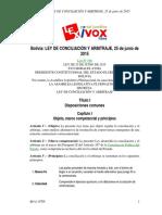 LEY DE ARBITRAJE Y CONCILIACION  BOLIVIA.pdf