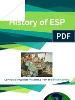 History & Types of ESP