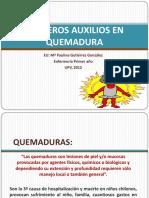 Primeros Auxilios en Quemadura.upv