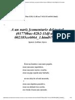 BARROCO a Un Nariz [Comentario Del Texto] _ Por Ignacio Arellano Ayuso _ Biblioteca Virtual Miguel de Cervantes