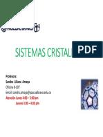 Clase 03. Sistemas Cristalinos