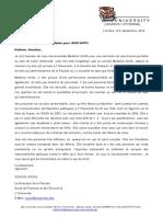 Lettre de Recommandation Académique