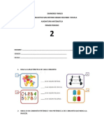 Evaluacion de Matematicas Grado 2 Primer Periodo