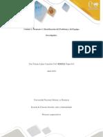 Unidad 1 Identificacion Del Problema y Del Equipo Investigador y Autoevaluacion Docx