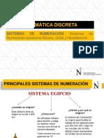 S1-MATEDIS-Sistemas de Numeración Posicional Binario, Octal y Hexadecimal