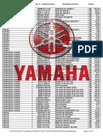 Lista de Preços Yamaha