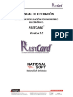 Restcard1.0 - Manual de Operaciones