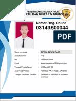 Form Reg. Online Pendaftar 03143500044