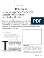Academic Microcultures and Student Identity