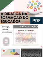 didática na formação do educador