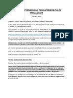 10 TIPS DEL MÉTODO LINGUA PARA APRENDER INGLÉS RAPIDAMENTE - 1372 palabras