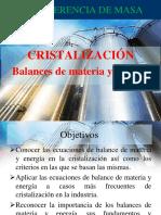 Cristalización Balances