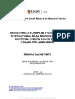 Eu Standard for Int Data Trasnfers