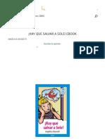 ¡HAY QUE SALVAR A SOLE! EBOOK _ ANGÉLICA DOSSETTI _ Descargar libro PDF o EPUB 9789561226906
