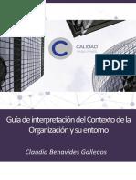 Guia de interpretacion del Contexto de la Organizaci¢n y su entorno