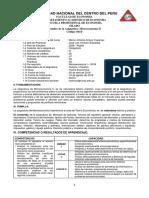 Silabo Microeconomia 2 2019-1-Marco Arroyo