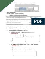 Evaluación de Matemática 7 Multp y Divis