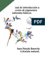 Manual de introducción a la extracción de pigmentos naturales básicos.
