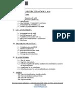 Estructura de la Carpeta Pedagógica