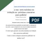 ➡Redação concursos policiais(( carreiras policiais))  SAIBA TUDO!