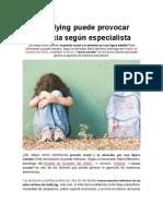 El Bullying Puede Provocar Anorexia Según Especialista