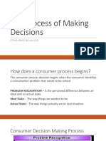 The Process of Making Decisions