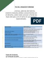 Conducta Del Orador Forense Diapositivas