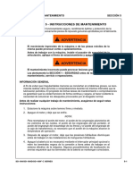 Instrucciones de Mantenimiento SD100DC