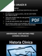 Historia Clínica Clase I