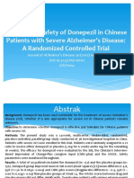 Efficacy and Safety of Donepezil in Chinese