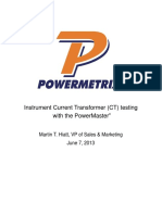 CT Testing With the PowerMaster