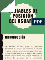 Variables de Posición