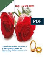 Luv u Like i Luv Red Roses