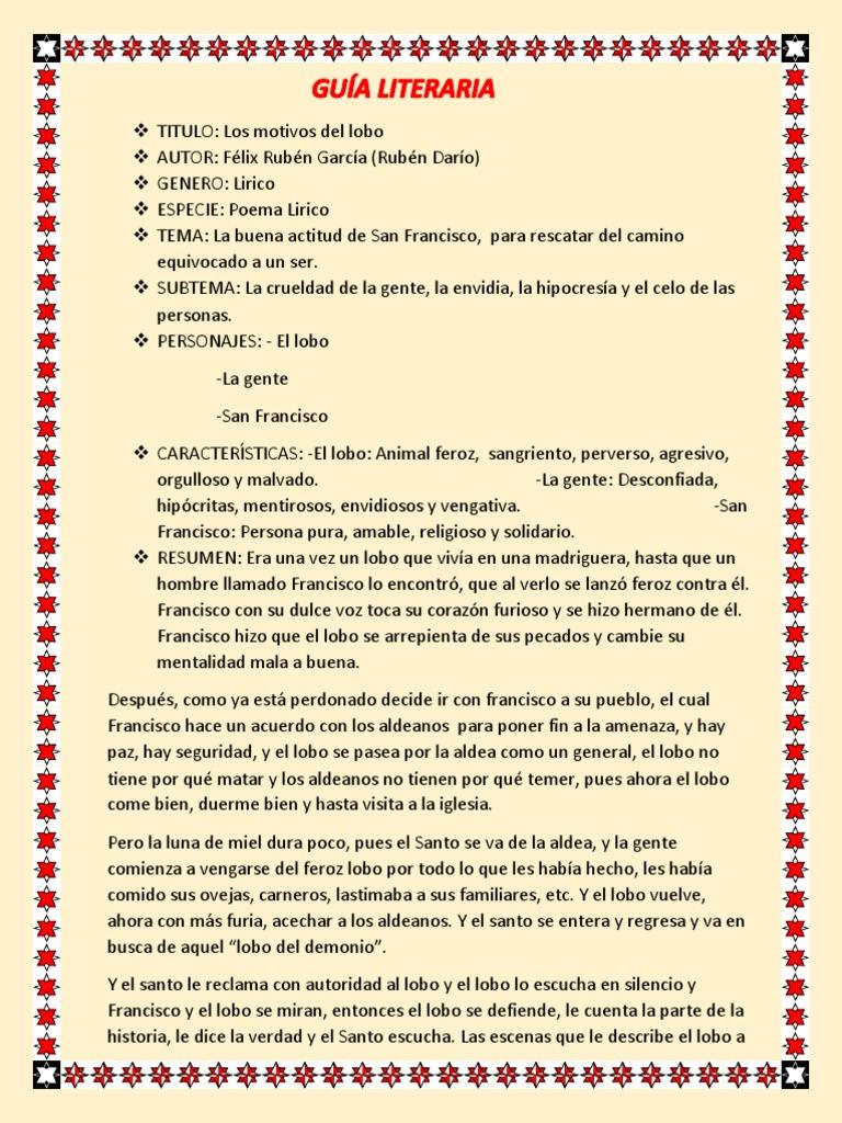 Los Motivos Lobo 1 Francisco De Asís Homo Sapiens