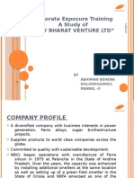 Corporate Exposure Training at Navbharat ventures ltd