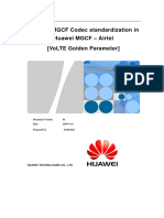MOP for Bharti MGCF Codec Standardization for VoLTE in Huawei MGCF
