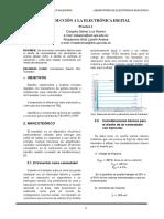 informe 1 INTRODUCCION A LA ELECTRONICA DIGITAL
