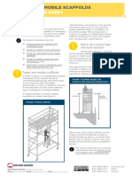 Tower Mobile Scaffolds Information Sheet