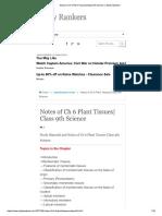 Biology Plant Tissue