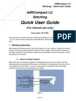Stitching - Quick User Guide Internal