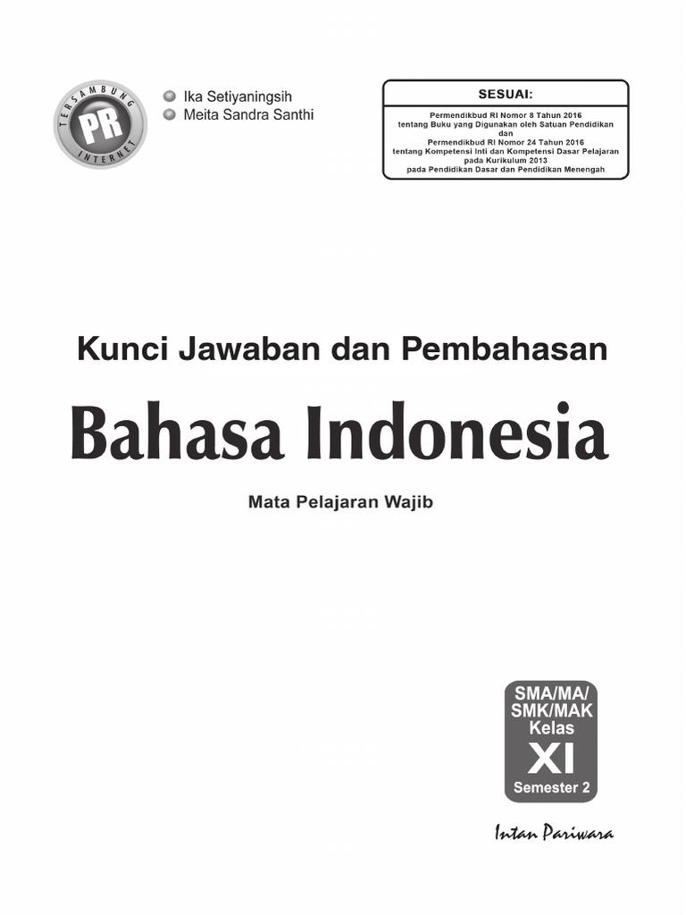 Kunci Jawaban Bahasa Indonesia Kelas 11 Kurikulum 2013 Rismax